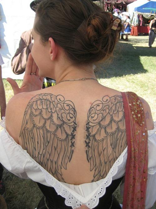 Back Angel Wings Tattoo For Girls Tattoomagz
