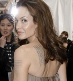 Angelina Jolies Wanted Tattoos Pictures Ever Scene Before