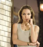 Wanted Publicity Stills Angelina Jolie Tattoo