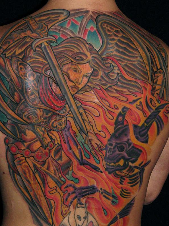 Angel Vs Demon Tattoo in My Ink Amp Designs