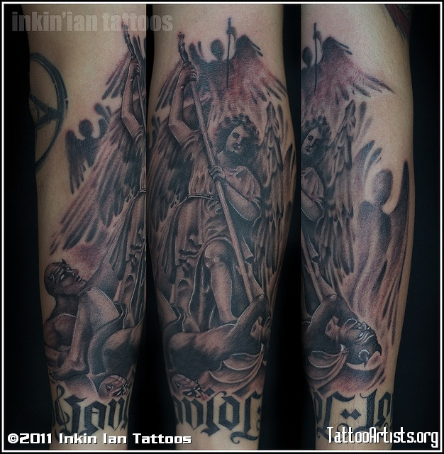 Amazing Group Angels Vs Demons Tattoo Artists - TattooMagz