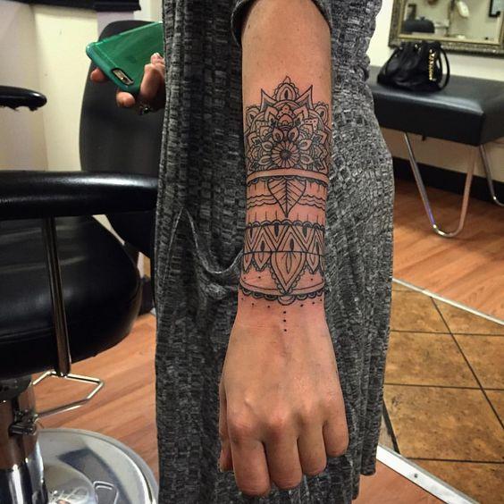 arm mandala tattoo