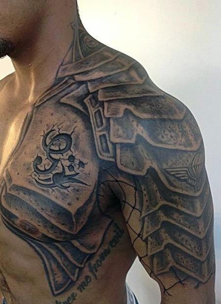 armour tattoos for men
