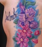 Aster Flower Body Art Design