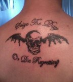 Avenged Sevenfold Seize the Day Lyrics and Winged Skull Tattoo