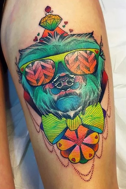 awesome trippy tattoo