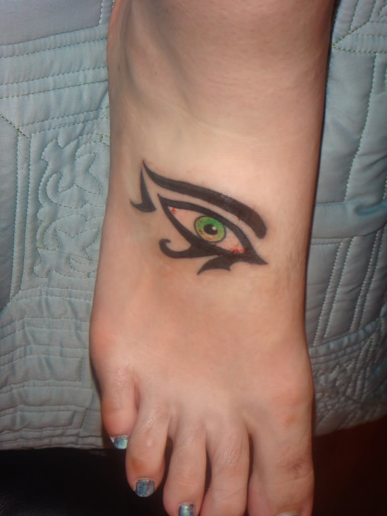 Eye tattoo on foot almost lover tattoos for Loser lover tattoo