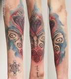Amazing Gradation On Arm Tattoos By Jarmo Nuutre