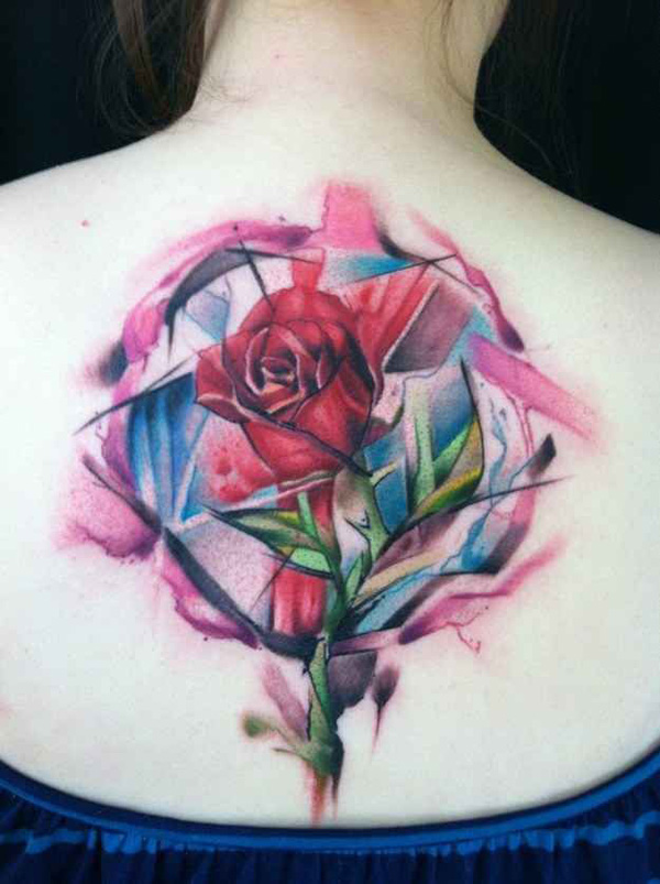 beauty and the beast flower tattoo