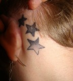 Cute Tattoos Behind The Ear For Girls