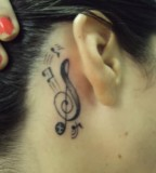 Note Ear Tattoos Pictures And Images