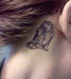 R2D2 Behind The Ear Tattoo Dorkly Picture
