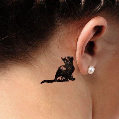 behind the ear