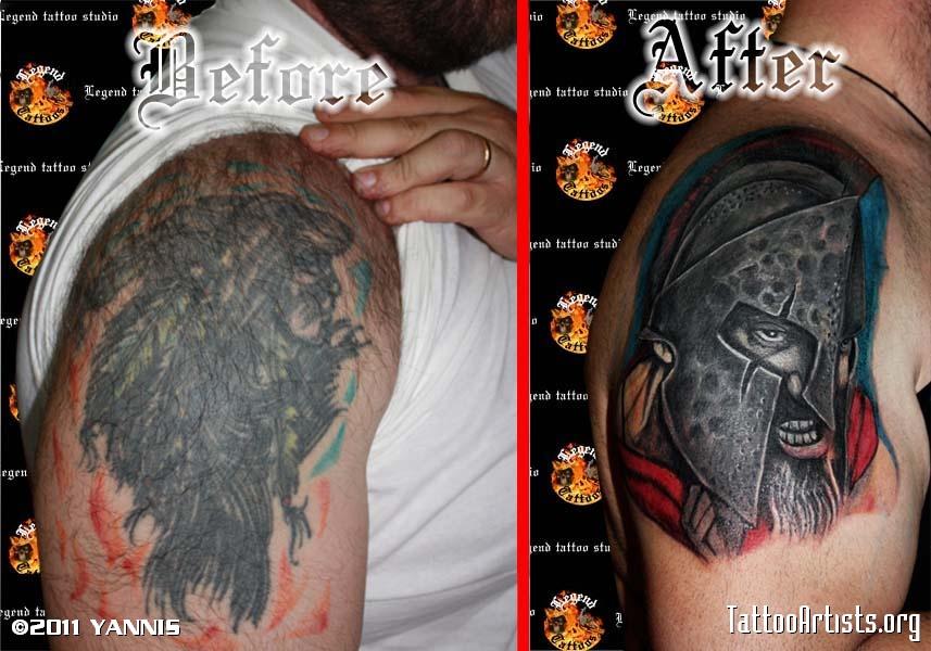 spartan Tattoo Cover Up Lilzeu Tattoo De - TattooMagz