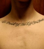 Life Quote Tattoo Ideas for Chest