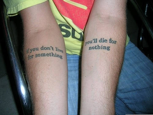 Attractive Tattoos QuotesFor Best Friends on Hands - TattooMagz