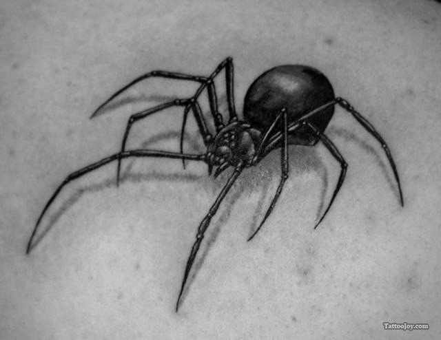 simple 3d black widow spider tattoo black and white tattoo designs ink. Black Bedroom Furniture Sets. Home Design Ideas