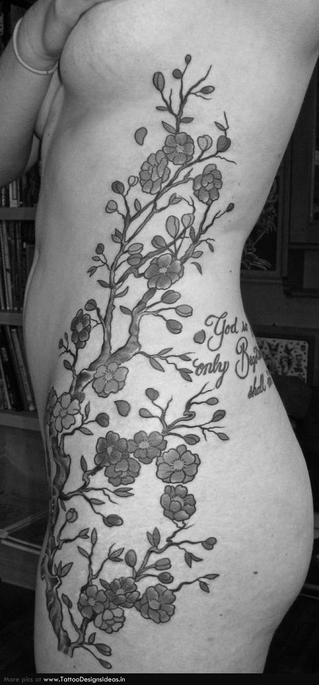 Cherry Blossom Tattoo Leg Japanese cherry blossom tattoo