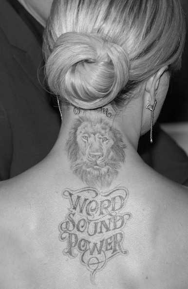 White Power Tattoos Women Power� back tattoo and lion
