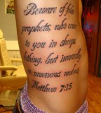 Tattoo Bible Verses Rib