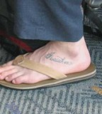 Unique Bible Verse Tattoos On Foot