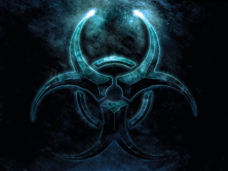 Fabulous Biohazard Blue Logo Symbol Picture Tattoomagz