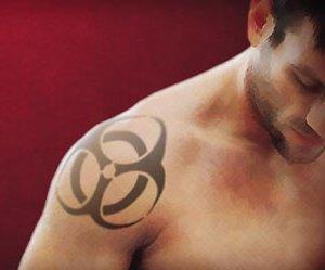 wonderful bio hazard arm tattoo design inspiration. Black Bedroom Furniture Sets. Home Design Ideas