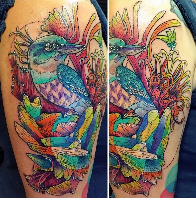 birdy trippy tattoo