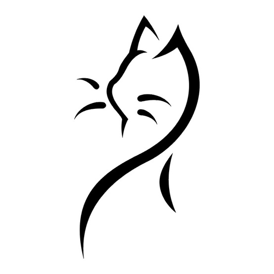 Head Black Cat Symbol Tattoo Tattoomagz