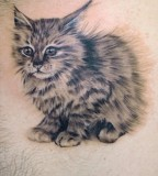 Hairy Kitty Tattoo Design