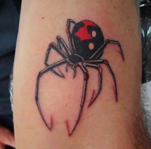 Black widow spider tattoos pictures information tattoomagz for Black widow spider tattoo