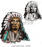 Illustration Of Blackfoot Indian Chief Tattoo Design
