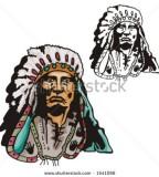 Illustration Of Blackfoot Indian Chief Tattoo Design