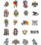 Exotic Native American Blackfoot Indian Symbol Tattoos