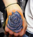 Romantic Rose Tattoo Design on Hand
