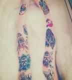 Rose Tattoo Design on Legs