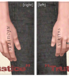 Boondock Saints Finger Tattoos Lettering Veritas and Aequitas