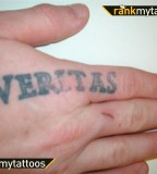 The Boondock Saints Religious Finger Tattoo