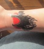 Cat Wrist Hand Tattoo