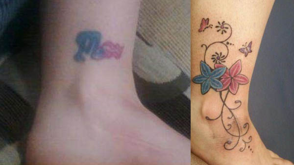 Clever cover up tattoos after the break up ink art tattoos for Bf gf matching tattoos
