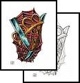 Brass Knuckle Flower Formed Tattoo Design