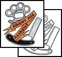 Arm Dagger Brass Knuckle Tattoo Design Sample