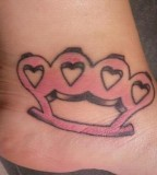 Pink Brass Knuckles - Tattoo Design