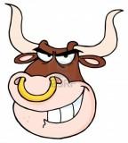 Tattoo Of Angry Bull Head Cartoon
