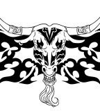 Tribal Bull Head Tattoos