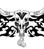 Tribal Bull Head Tattoos