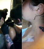Cool Butterfly Tattoo for Girl