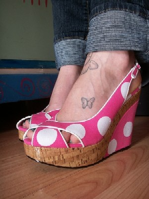 Small Butterfly Tattoos on Foot
