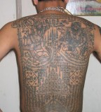 Dashing Full Back Khmer Tattoo