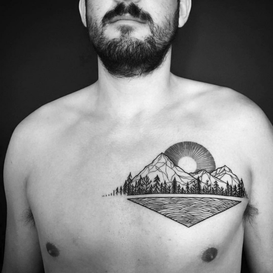 Women Jaw Tattoo: 53 Jaw Dropping Chest Tattoos For Men